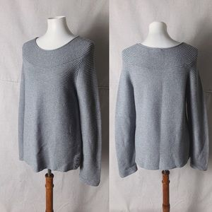 TALBOTS Shimmer Scoop Neck Sweater size M